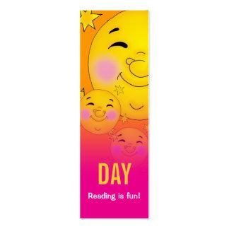 ¡Día y noche - la lectura es diversión! señal Tarjetas De Visita Mini