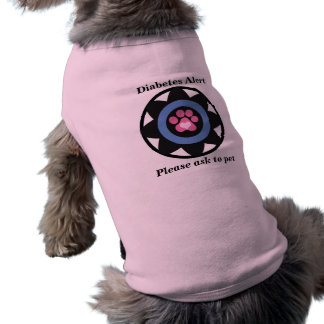 Diabetes Alert Blue Circle and Pink Paw T-Shirt