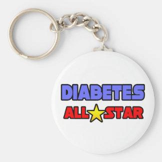 Diabetes All Star Llavero Redondo Tipo Pin