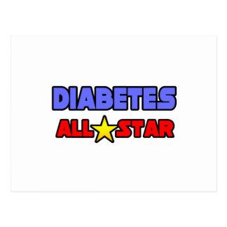 Diabetes All Star Postcard