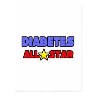 Diabetes All Star Tarjeta Postal