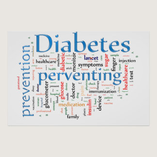 Diabetes and perventing poster