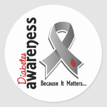 Diabetes Awareness 5 Classic Round Sticker