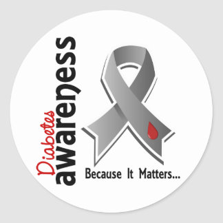 Diabetes Awareness 5 Classic Round Sticker