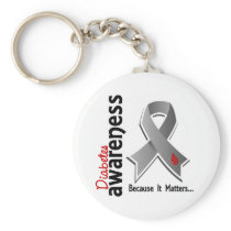 Diabetes Awareness 5 Keychain