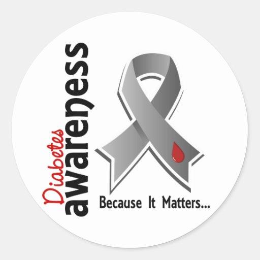 Diabetes Awareness 5 Round Stickers