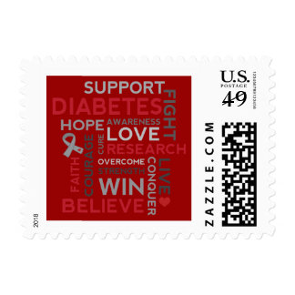 Diabetes Awareness and Support Month Postage Stamps