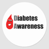 Diabetes Awareness Buddy Classic Round Sticker