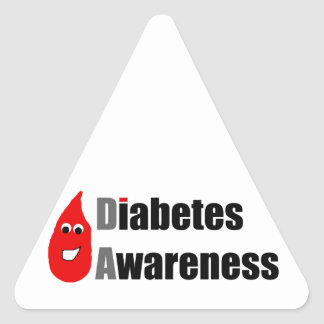 Diabetes Awareness Buddy Triangle Stickers