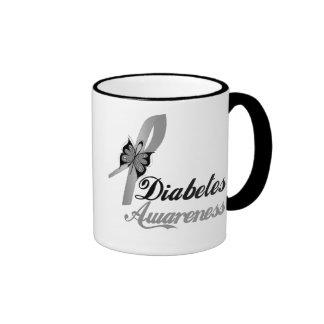 Diabetes Awareness Butterfly Ringer Coffee Mug