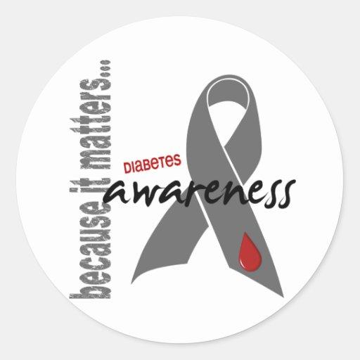 Diabetes Awareness Classic Round Sticker