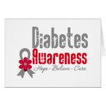 Diabetes Awareness Flower Ribbon Greeting Cards
