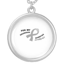 Diabetes Awareness  Get You Down Type 1 Diabetics Silver Plated Necklace