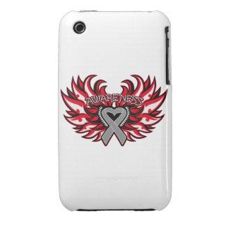 Diabetes Awareness Heart Wings Case-Mate iPhone 3 Cases