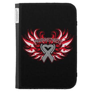 Diabetes Awareness Heart Wings Kindle Cases
