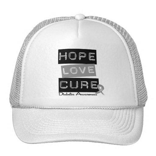 Diabetes Awareness Hope Love Cure Mesh Hats
