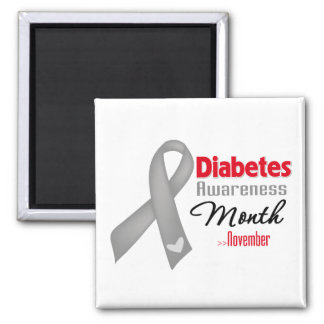 Diabetes Awareness Month 2 Inch Square Magnet