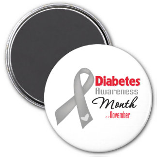 Diabetes Awareness Month 3 Inch Round Magnet