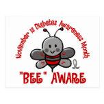 Diabetes Awareness Month Bee 1.2 Postcard