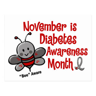 Diabetes Awareness Month Bee 1.3 Postcard