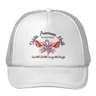 Diabetes Awareness Month Butterfly 3 2 Mesh Hat
