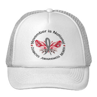 Diabetes Awareness Month Butterfly 3 3 Hats