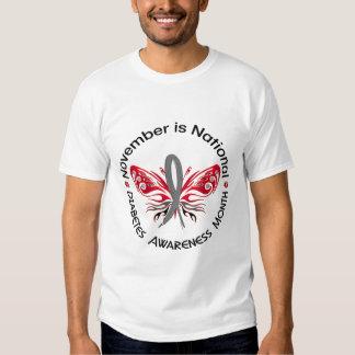 Diabetes Awareness Month Butterfly 3.3 Shirt