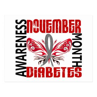 Diabetes Awareness Month Butterfly 3.4 Postcard