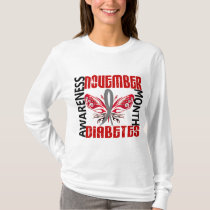 Diabetes Awareness Month Butterfly 3.4 T-Shirt