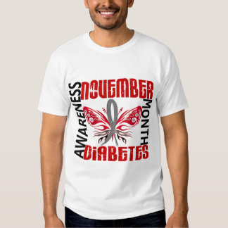 Diabetes Awareness Month Butterfly 3.4 Tee Shirt