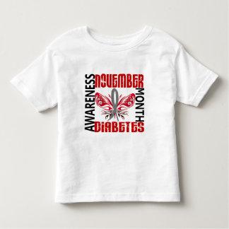 Diabetes Awareness Month Butterfly 3.4 Toddler T-shirt