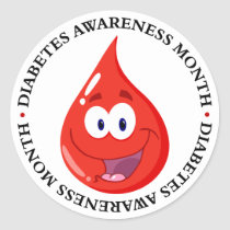 Diabetes Awareness Month Classic Round Sticker