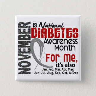 Diabetes Awareness Month Every Month For ME Button