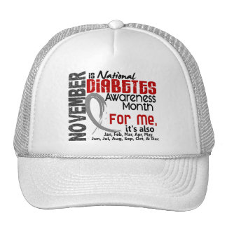 Diabetes Awareness Month Every Month For ME Mesh Hat