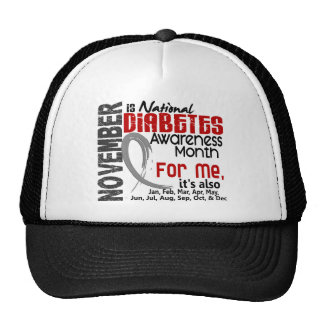 Diabetes Awareness Month Every Month For ME Hats