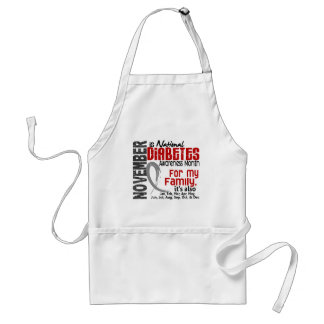 Diabetes Awareness Month Every Month For My Family Adult Apron