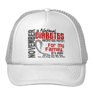 Diabetes Awareness Month Every Month For My Family Trucker Hat