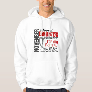 Diabetes Awareness Month Every Month For My Family Sweatshirt