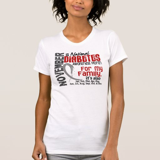 Diabetes Awareness Month Every Month For My Family Shirt