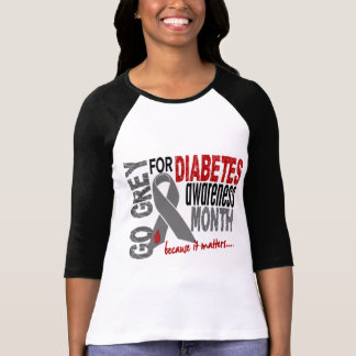 Diabetes Awareness Month Grey Ribbon 1.4 T-Shirt
