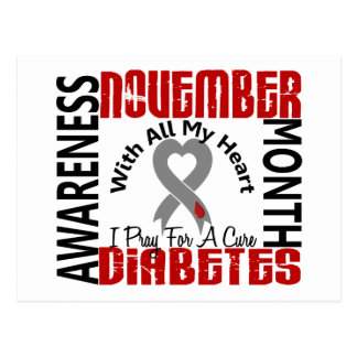 Diabetes Awareness Month Heart 1.1 Postcard