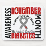 Diabetes Awareness Month Heart 1.3 Mousepads