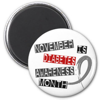 Diabetes Awareness Month L1 2 Inch Round Magnet