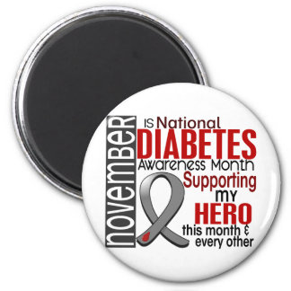 Diabetes Awareness Month Ribbon I2.1 2 Inch Round Magnet