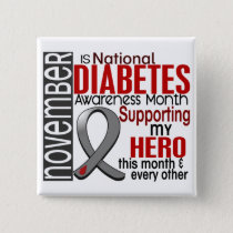 Diabetes Awareness Month Ribbon I2.1 Pinback Button