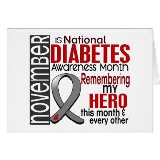 Diabetes Awareness Month Ribbon I2.2 Greeting Card
