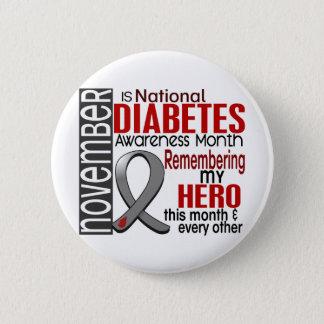 Diabetes Awareness Month Ribbon I2.2 Pinback Button