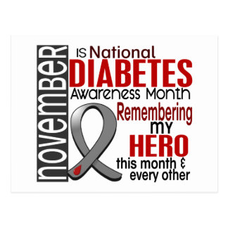 Diabetes Awareness Month Ribbon I2.2 Postcard