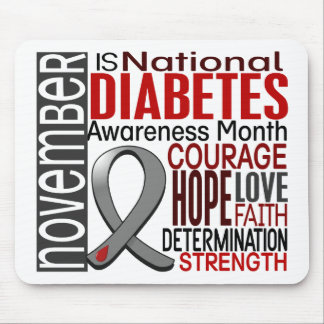Diabetes Awareness Month Ribbon I2.3 Mouse Pad