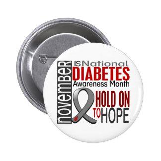 Diabetes Awareness Month Ribbon I2.4 Button
